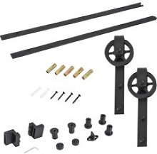 HOMCOM Sliding Barn Door Hardware Kit,6.6 Ft