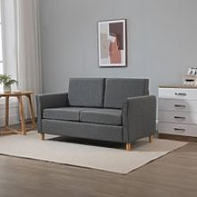 HOMCOM Sofa Double Seat Compact Loveseat Couch