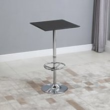HOMCOM Square Pub Table Counter Bar Table with