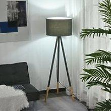HOMCOM Stylish Detachable Tripod Stand Floor Lamp