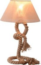 HOMCOM Table Lamp W/ Twisted Rope, E27 Base-Beige