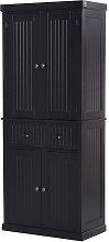 HOMCOM Tall Kitchen Storage Cabinet Cupboard