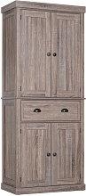HOMCOM Tall Kitchen Storage Cabinet Minimalistic