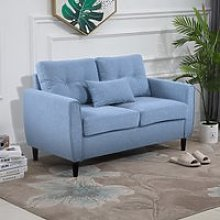 HOMCOM Traditional Style Wide Double Sofa with