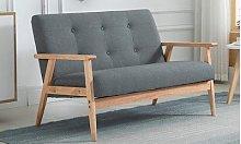 Homcom Tufted Sofa: Two-Seater Sofa