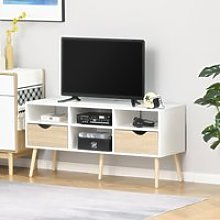 HOMCOM TV Cabinet Stand Unit for TVs up to