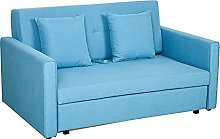 HOMCOM Two Seater Fabric Sofa Bed with Storage
