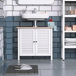 HOMCOM Under-Sink Storage Cabinet with Double