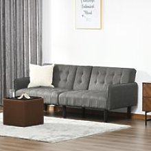 HOMCOM Upholstered Sofa bed 3 Seater Home Theater