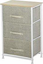 HOMCOM Vertical 3-Tier Linen Drawer Cabinet