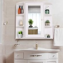 HOMCOM Wall Mounted Bathroom Cabinet with Mirror