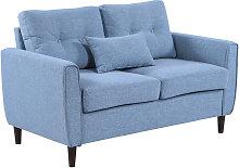 HOMCOM Wide 2-Seater Sofa Tufted Loveseat w/ Seat