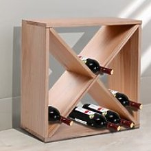 HOMCOM Wooden 24 Bottles Wine Rack