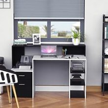 HOMCOM Wooden Computer Desk-Black/White