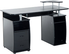 HOMCOM Wooden Office Computer PC Table Desk