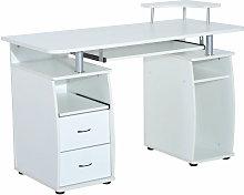 HOMCOM Wooden Office Computer PC Table Desk