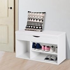 HOMCOM Wooden Shoes Cabinet Bench Hidden Storage