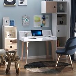 HOMCOM Writing Desk W/Solid Wood Legs-White