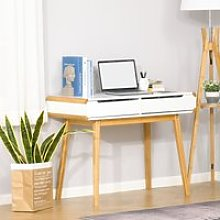 HOMCOM Writing Desk with Drawers, Study Table