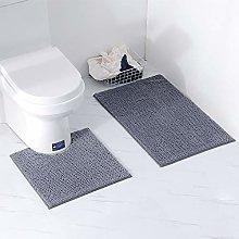 Homcomodar Bathroom Mat Set 2 Piece Bath Rug
