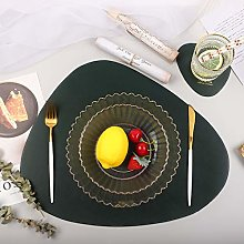 Homcomodar Placemats and Coaster in Durable PU
