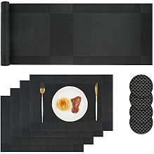 Homcomodar Placemats and Coasters Sets 4 Easy to