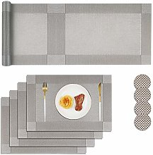 Homcomodar Placemats and Coasters Sets 4 with