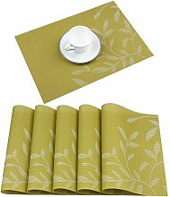 Homcomodar Placemats Set of 6 Heat Insulation