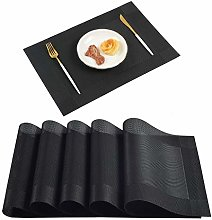 Homcomodar Placemats Sets of 6 Washable Table