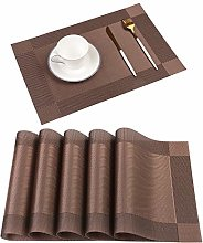 Homcomodar Placemats Washable Kitchen Table Place