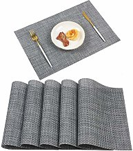 Homcomodar Placemats Washable PVC Dining Table