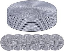 Homcomodar Round Placemats and Coasters Set of 6