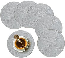 Homcomodar Round Placemats, Insulation Braided