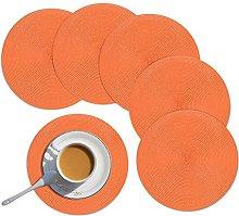 Homcomodar Round Placemats Set of 6 Heat Resistant