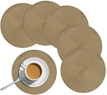 Homcomodar Round Placemats Sets of 6 Round Table
