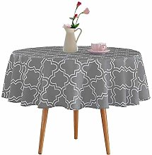 Homcomodar Table Cloth in Cotton 152cm Round