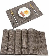 Homcomodar Table Mats Washable PVC Dining Place