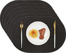 Homcomodar Table Place Mat Oval-shaped Set of 6