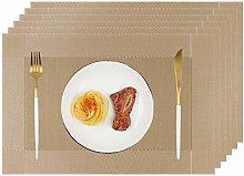 Homcomodar Table Place Mat Set of 6 Heat Resistant