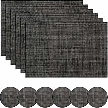 Homcomodar Table Place Mats and Coasters Set of 6