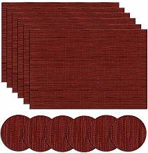 Homcomodar Table Place Mats Vinyl Woven Placemats