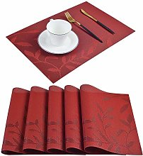 Homcomodar Vinyl Placemats Heat Insulation Plastic