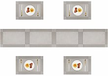 Homcomodar Vinyl Placemats Set of 4 and a Table