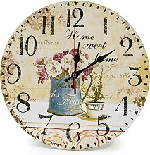Home 12 inch/30 cm wooden wall clock, kitchen