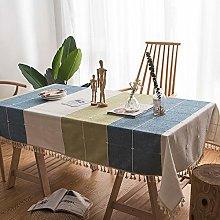 Home's Cotton linen art rectangular tablecloth