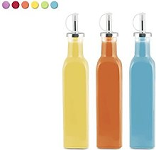 Home 9675900 Set of 12 Sinuous Glass Oil/Vinegar