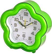 Home Alarm Clock, Flower Decoration, 12 cm, Green,