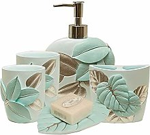 Home Bathroom Holders Soap Dispensers 5 Piece