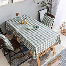 Home Brilliant Blue Table Cloth (52 x86 Inches)