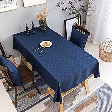 Home Brilliant Blue Tablecloth Solid Farmhouse